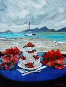 Shelly's wedding cake