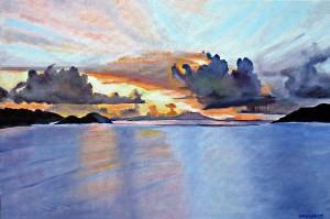 Can Garden Bay Sunset, Tortola, BVIs